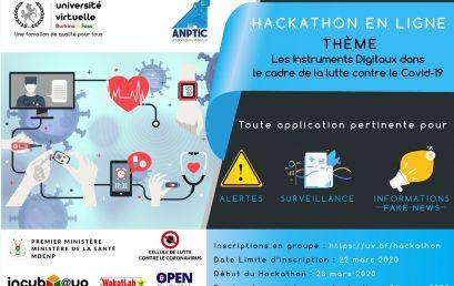 Hackathon en ligne «Riposte digitale au COVID-19»