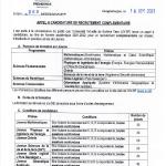 Report de la date limite de réception des candidatures